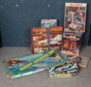 A quantity of vintage games. Including Mr Chimney Pot, Dukes of Hazard racing set, Sharpshooter,