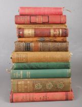 A group of eleven vintage books. To include 'The Last of the Mohicans' presented in 1886,