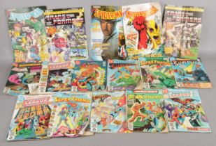 A quantity of mostly 1980s comics. Including Marvel and DC, etc.