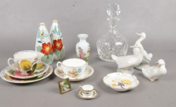 A group of miscellaneous. Royal Crown Derby, NAO, Coalport etc