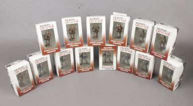 Fourteen boxed die-cast soldiers of the Great War. To include seven 5th Assault Battalion 1916 &