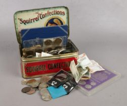 A group of British & World coins/ bank notes. To include commemorative coins.