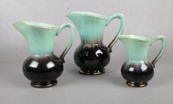 Three graduated jugs. (marked Germany 524-20)