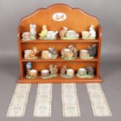 A Free Standing Display Unit with Chicken Detail, complete with Twelve Franklin Min 'Friends of