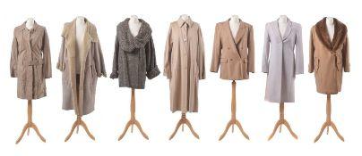 A selection of designer coats,