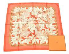 "A Hermès ""Les Perroquets"" silk scarf by Joachim Metz,"