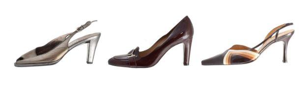Three pairs of designer heels,