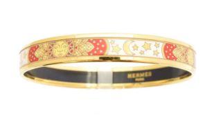 A Hermès enamel bangle bracelet,
