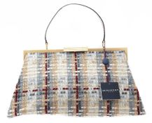 A Burberry tweed bag,