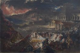 "John Martin (British 1789-1854) ""The Fall of Nineveh"" (from Illustrations to the Bible)"