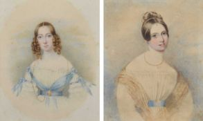 English School (19th century) Female portraits