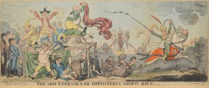 "George Cruikshank (1792-1878) and William Heath (1795-1840) ""The Mountebanks, or Opposition Show Box"
