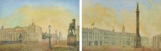 Russian School (19th/20th century) Views of Saint Petersburg