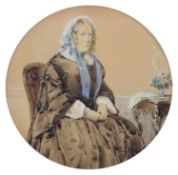 English School (19th century) Portrait of Mrs. Apthorp