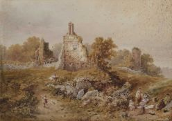 H. McKillin? (19th century) Figures picnicking near a ruin