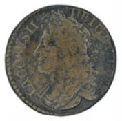 Ireland, James II, 'Gunmoney' coinage, Halfcrown and Shilling (2).