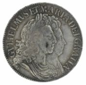 William and Mary, Crown, 1691 TERTIO.