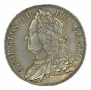 King George II, Crown, 1743 D. SEPTIMO.