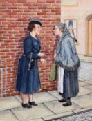 "Tom Dodson (British 1910-1991) ""The Gossips"""