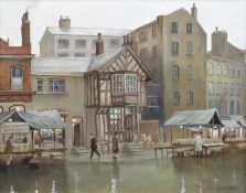 "Steven Scholes (British 1952-) ""Shude Hill Book and Record Market, Manchester 1962"""
