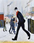 "John Hanley (British 1947-) ""Man Walking"" after L.S. Lowry"