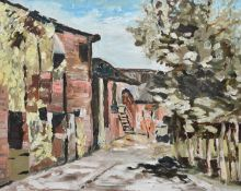 """Alec Fleming (British 1903-1978) """"The Old Stable Yard"""" and """"A Mountain Village"""""""