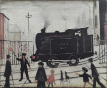 """L.S. Lowry R.A. (British 1887-1976) """"The Level Crossing"""""""