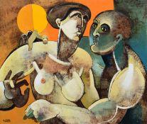 "Geoffrey Key (British 1941-) ""Summer Meeting"""