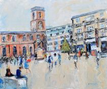 """Judith A. Donaghy (20th/21st century) """"St. Ann's Square, December"""""""