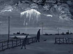 """Vincent Dott (20th/21st century) """"Hang on Wait for Me"""""""
