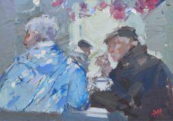 "Don McKinlay (British 1929-2017) ""A Hot Cuppa, Win's Cafe, Rawtenstall Market"""