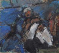 "Ghislaine Howard (British 1953-) ""Rehearsal Study, ""Women of Troy"", National Theatre"""