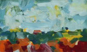 Bob Crossley (British 1912-2010) Rural landscape