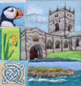 "Sylvie McCracken (20th/21st century) ""Bluebell Wood"", ""Pembrokeshire Montage"" and ""Carn Llidi"""