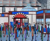 "Chris Barrow A.B.N.A. (1974-) ""Victoria Station, Manchester"""