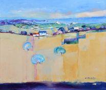 "Judith A. Donaghy (20th century) ""Welsh Coastal Landscape"""