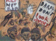 "Ghislaine Howard (British 1953-) ""Darfur Wall"""