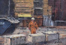 """Steven Bewsher (British 1964-) """"Construction Worker, Manchester Victoria"""""""