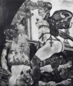 Fritz Aigner (Austrian 1930-2005) Surreal figure group