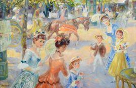 "John Frederick Lloyd Strevens (British 1902-1990) ""Summer Promenade"""