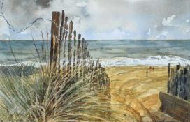 "Nicholas Ferenczy (20th/21st century) ""Boys on the Beach: Sea Palling"""