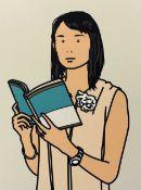 "Julian Opie (British 1958-) ""Hjiri with Book"" from 'Twenty Six Portraits'"