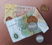 Norman Black (British 1920-1999) Coins and banknotes