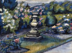 """Vera Cuningham (British 1897-1955) """"The Sundial on the Second Terrace - Fellside, Windermere"""" and th"""