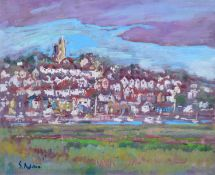 """Sheila Appleton (20th/21st century) """"Old Leigh from the Marshes"""""""