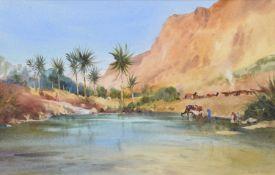 John Barrie Haste (1931-2011) A desert oasis