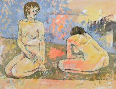Kenneth Walch (Australian 1927-) Kneeling figures