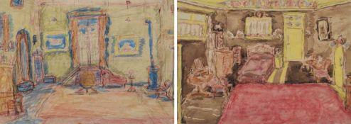 Vera Cuningham (British 1897-1955) Interior scenes