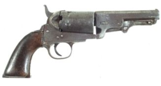 Percussion Colt type revolver probably by Clement arms