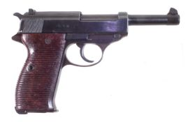 Deactivated Walther 9mm P38 semi-automatic pistol.